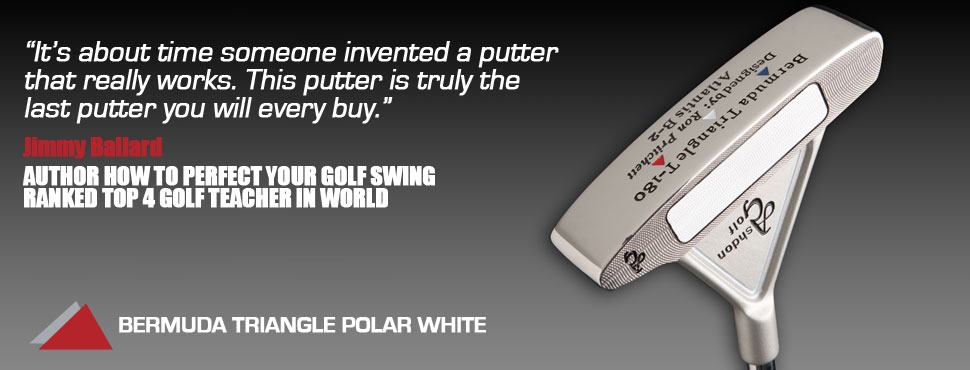 Bermuda Triangle Polar White putter